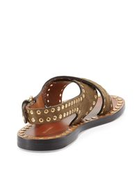 Isabel Marant - Brown Jane Suede Studded Sandals - Lyst