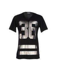 Officina 36 - Black T-shirt for Men - Lyst