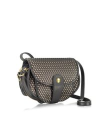 Jérôme Dreyfuss | Momo Black and Nude Perforated Leather Mini Shoulder Bag | Lyst