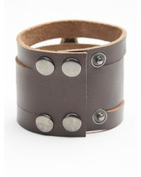 Free People | Brown Womens Monza Leather Cuff | Lyst
