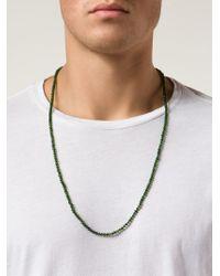 Joseph Brooks - Green Beaded Necklace for Men - Lyst