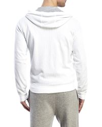 Vince - White Waffle Hoodie for Men - Lyst