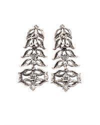Lulu Frost | Metallic Rococo Statement Drop Earrings | Lyst