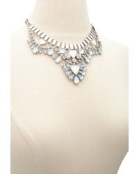 Forever 21 - Metallic Triangle Statement Necklace - Lyst