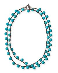 An Old Soul | Blue Faceted Bead Necklace | Lyst