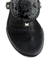 Jack Rogers | Black Devyn Thong Wedge Sandals | Lyst