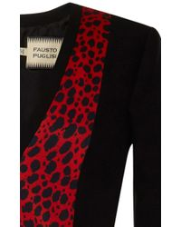 Fausto Puglisi - Red Long Sleeve V-Neck Gown - Lyst