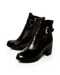 Moda In Pelle | Black Arona Medium Smart Short Boots | Lyst