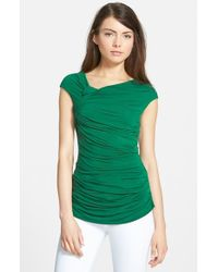 Bailey 44 | Green Teorema Ruched Top | Lyst