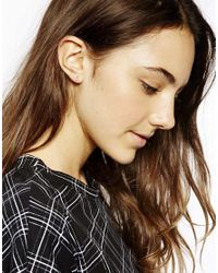 ASOS - Pink Gold Plated Sterling Silver October Birthstone Earrings - Lyst