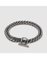 Men S Metallic Silver Horsebit Bracelet