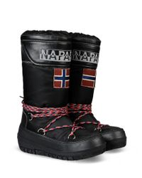 Napapijri - Black Quilted Snow Boots - Lyst
