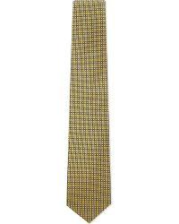 Eton of Sweden - Yellow Multi Micro Diamond Silk Tie for Men - Lyst