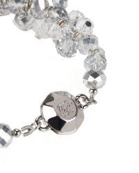 Ted Baker | Metallic Cluster Bead Bracelet | Lyst