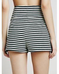 Free People - Black Womens Riker Striped High Rise - Lyst