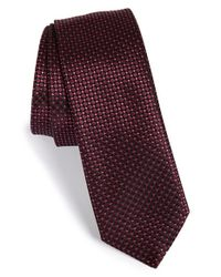 HUGO | Purple Check Silk Tie for Men | Lyst