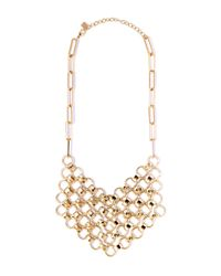 DANNIJO | Metallic Plimpton Chain Bib Necklace | Lyst