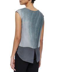 Elie Tahari - Multicolor Shea Layered Silk Blouse - Lyst