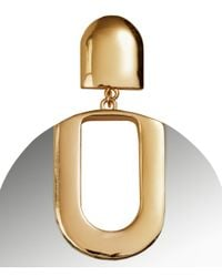 H&M - Metallic Mirror Earrings - Lyst