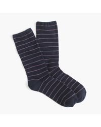 J.Crew | Blue Thin-striped Socks | Lyst