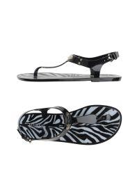 MICHAEL Michael Kors - Black Thong Sandal - Lyst