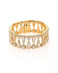 Adriana Orsini - Metallic Athena Teardrop & Trillion Bracelet - Lyst
