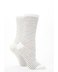 Forever 21 | Natural Patterned Crew Socks Pack | Lyst