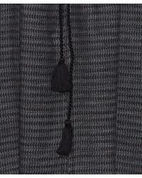 MASSCOB - Black Gingham Elastic Tasslled Top - Lyst