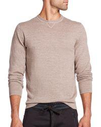 Saks Fifth Avenue - Natural Mouline Long-sleeve Merino Wool Sweater for Men - Lyst