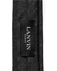 Lanvin - Black Lurex Stripe Tie for Men - Lyst