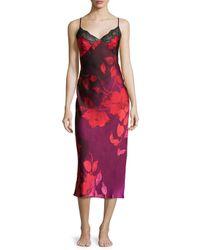 Natori - Multicolor Sophia Floral-print Lace-trim Gown - Lyst