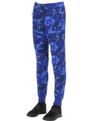 Nike | Blue Camo Printed Cotton Blend Jogging Pants for Men | Lyst