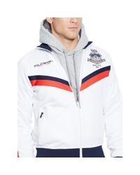 Ralph Lauren - White Usa Track Jacket for Men - Lyst