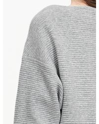 Banana Republic | Gray Ribbed Boatneck Pullover | Lyst