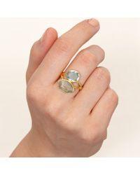 Pippa Small - Metallic Aqua Double Greek Ring - Lyst