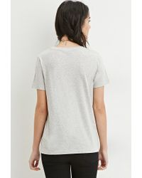 306c8f4da8d Lyst - Forever 21 Business Graphic Tee in Gray