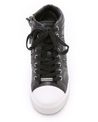 DKNY - Black Cindy Wedge Sneakers - Sand - Lyst