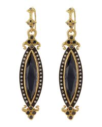 Armenta | Metallic Marquis Rose Of Francehematite Doublet Earrings | Lyst