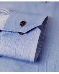 Eton of Sweden | Blue Contemporary Fit Herringbone Shirt for Men | Lyst