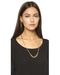 DANNIJO | Metallic Shields Necklace - Gold | Lyst