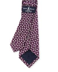 Psycho Bunny - Purple Geometric Silk & Wool Tie for Men - Lyst