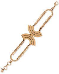 Lucky Brand | Metallic Gold-tone Crescent Bracelet | Lyst