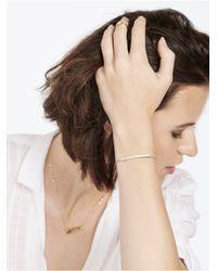 BaubleBar | Metallic Bar Nameplate Bracelet-silver | Lyst