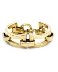 Vaubel | Metallic Chunky Open Rectangular Bracelet | Lyst