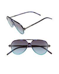 Marc Jacobs - Black 56mm Aviator Sunglasses - Havana/ Aqua - Lyst