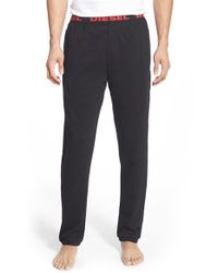 DIESEL | Black 'umlb - Massi' Lounge Pants for Men | Lyst