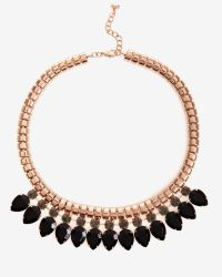 Ted Baker | Black Crystal Chain Necklace | Lyst