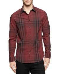 Calvin Klein Jeans | Red Faded Plaid Sportshirt for Men | Lyst