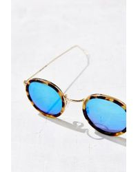 Kyme | Blue Matti Round Sunglasses | Lyst