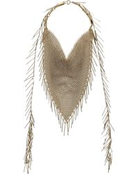 Isabel Marant - Natural Chain-mail  Fringe Necklace - Lyst